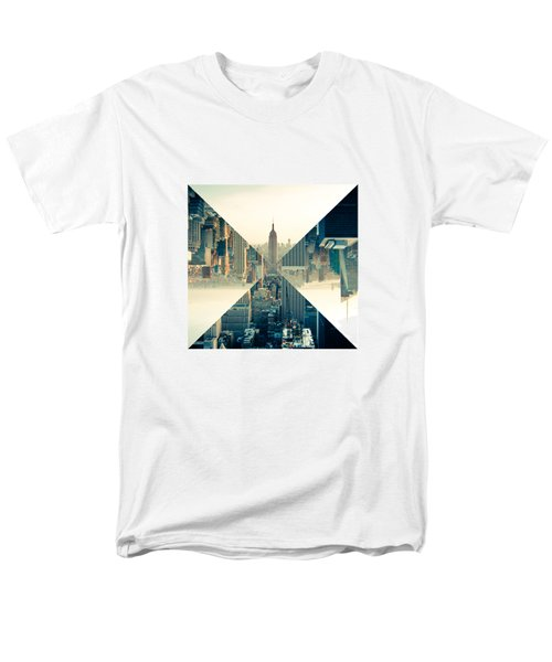 Split Skyline Ny Men's T-Shirt  (Regular Fit) by Jamie Kingswood
