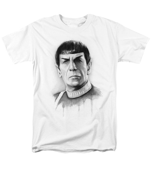 Star Trek Spock Portrait Men's T-Shirt  (Regular Fit) by Olga Shvartsur