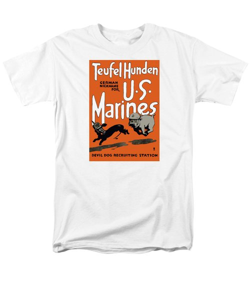 Teufel Hunden - German Nickname For US Marines T-Shirt by War Is Hell Store