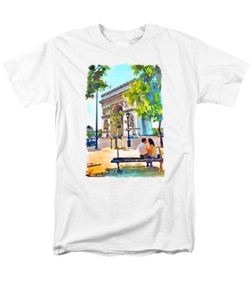 The Arc De Triomphe Paris Men's T-Shirt  (Regular Fit) by Marian Voicu
