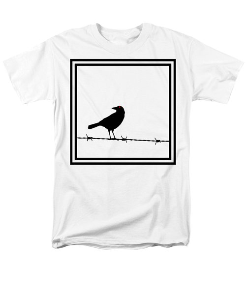The Black Crow Knows T-shirt Men's T-Shirt  (Regular Fit) by Edward Fielding