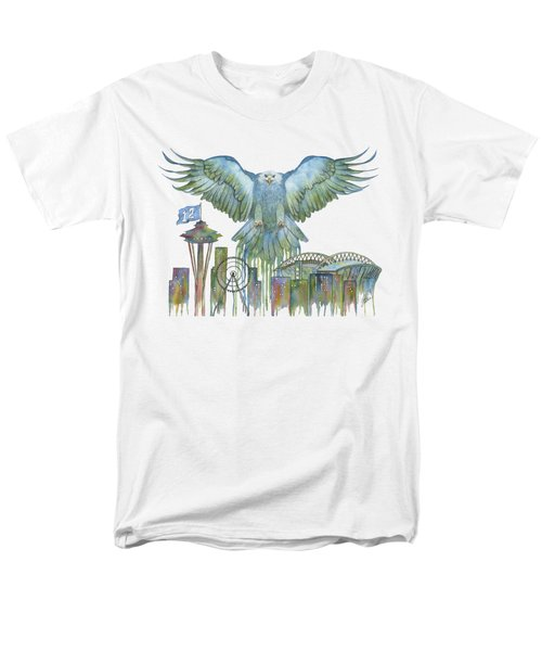 The Blue And Green Overlay Men's T-Shirt  (Regular Fit) by Julie Senf