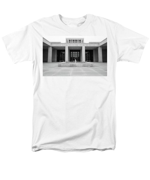 The George W. Bush Presidential Library And Museum  Men's T-Shirt  (Regular Fit) by Robert Bellomy