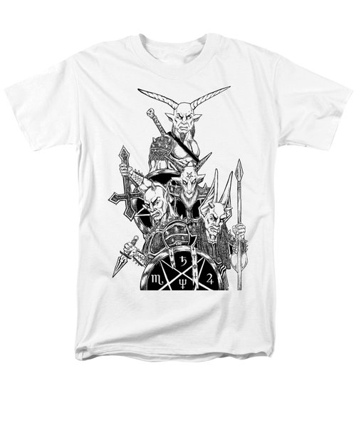 The Infernal Army White Version Men's T-Shirt  (Regular Fit) by Alaric Barca