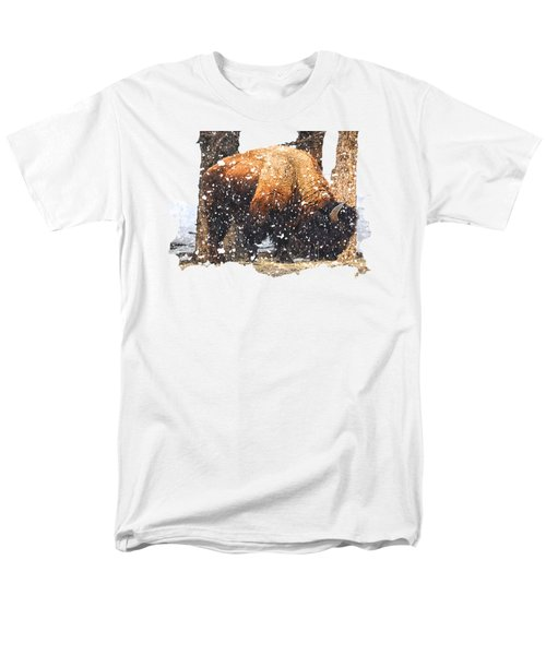 The Majestic Bison Men's T-Shirt  (Regular Fit) by Image Takers Photography LLC - Carol Haddon