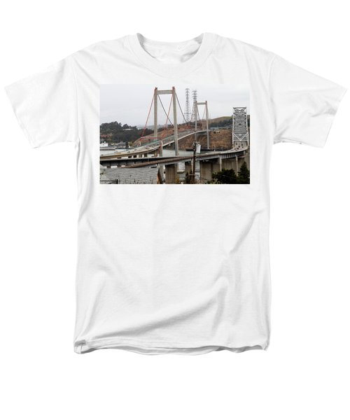 The New Alfred Zampa Memorial Bridge and The Old Carquinez Bridge . 7D8915 T-Shirt by Wingsdomain Art and Photography