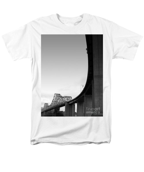The Old Carquinez Bridge . Black and White . 7D8832 T-Shirt by Wingsdomain Art and Photography