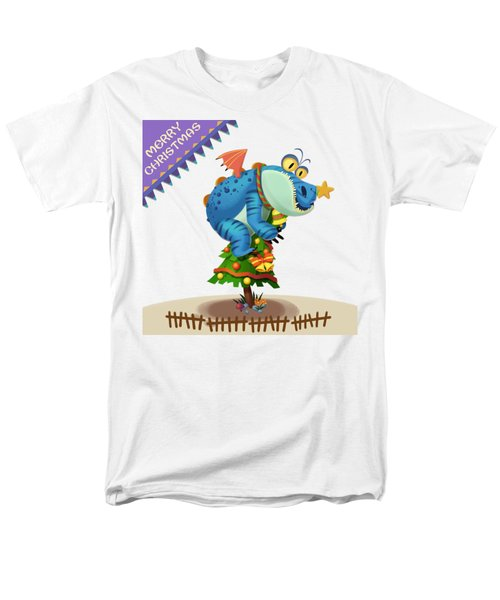 The Sloth Dragon Monster Comes To Wish You Merry Christmas Men's T-Shirt  (Regular Fit) by Next Mars