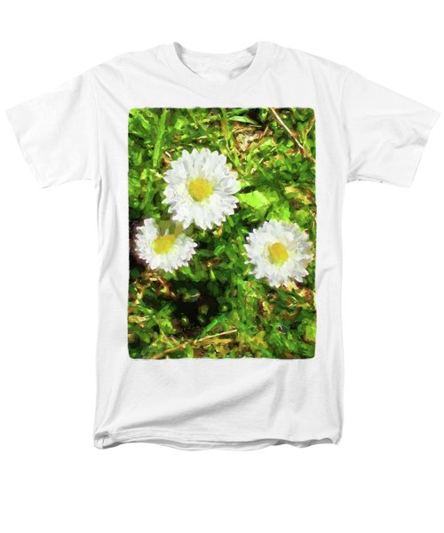 Three Daisies In The Sun Men's T-Shirt  (Regular Fit) by Jackie VanO