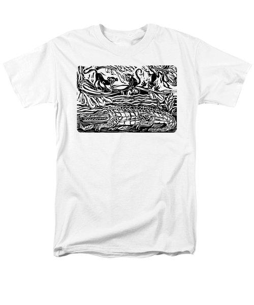 Three Little Monkeys  Men's T-Shirt  (Regular Fit) by Katherine Nutt