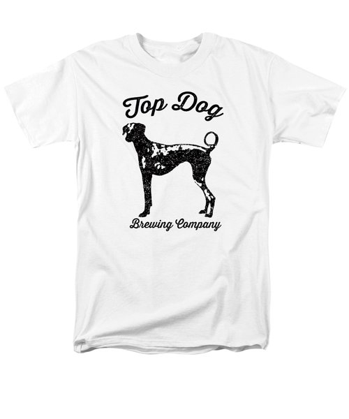 Top Dog Brewing Company Tee Men's T-Shirt  (Regular Fit) by Edward Fielding