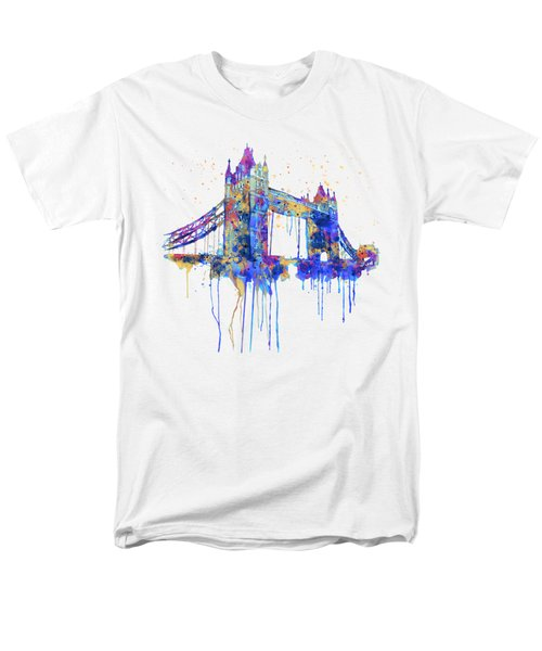 Tower Bridge Watercolor Men's T-Shirt  (Regular Fit) by Marian Voicu