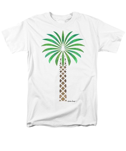 Tribal Canary Date Palm Men's T-Shirt  (Regular Fit) by Heather Schaefer