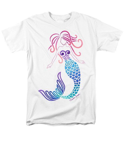 Tribal Mermaid Men's T-Shirt  (Regular Fit) by Heather Schaefer