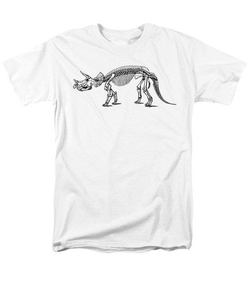 Triceratops Dinosaur Tee Men's T-Shirt  (Regular Fit) by Edward Fielding