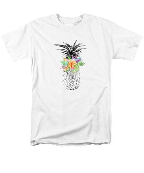 Tropical Flower Pineapple Lime Men's T-Shirt  (Regular Fit) by Dushi Designs
