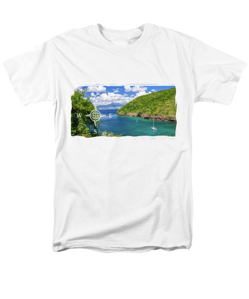 Tropical Lagoon Men's T-Shirt  (Regular Fit) by Konstantin Sevostyanov