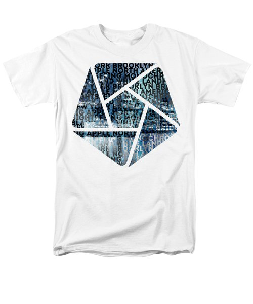 Urban-art Nyc Brooklyn Bridge I Men's T-Shirt  (Regular Fit) by Melanie Viola