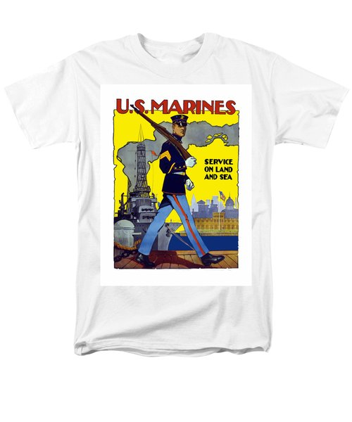 U.S. Marines - Service On Land And Sea T-Shirt by War Is Hell Store