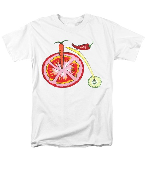 Veggie Bike Men's T-Shirt  (Regular Fit) by Kathleen Sartoris