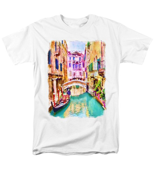 Venice Canal 2 Men's T-Shirt  (Regular Fit) by Marian Voicu