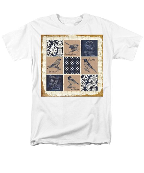 Vintage Songbird Patch 2 Men's T-Shirt  (Regular Fit) by Debbie DeWitt