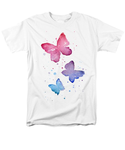 Watercolor Butterflies Men's T-Shirt  (Regular Fit) by Olga Shvartsur