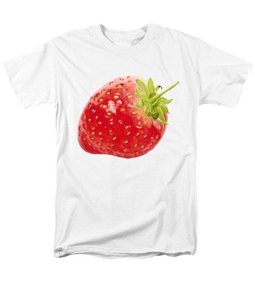 Watercolor Strawberry Men's T-Shirt  (Regular Fit) by Kathleen Skinner