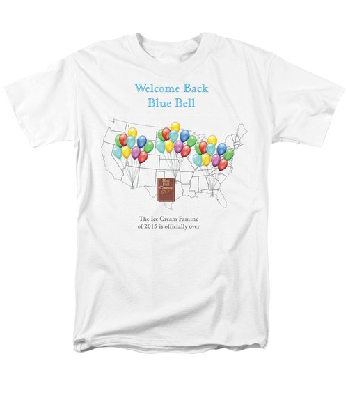 Welcome Back Blue Bell Men's T-Shirt  (Regular Fit) by Jacquie King