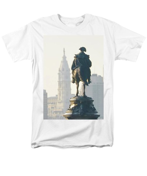 William Penn and George Washington - Philadelphia T-Shirt by Bill Cannon