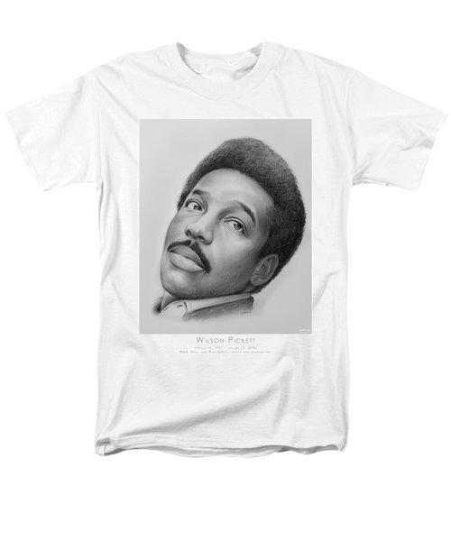 Wilson Pickett Men's T-Shirt  (Regular Fit) by Greg Joens