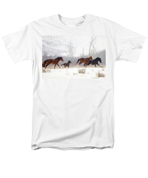 Winter Gallop T-Shirt by Mike  Dawson