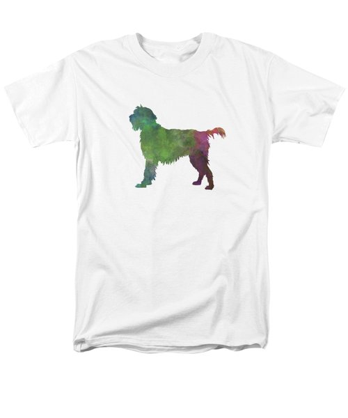 Wirehaired Pointing Griffon Korthals In Watercolor Men's T-Shirt  (Regular Fit) by Pablo Romero