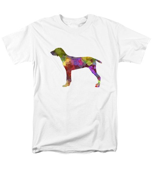 Wirehaired Slovakian Pointer In Watercolor Men's T-Shirt  (Regular Fit) by Pablo Romero