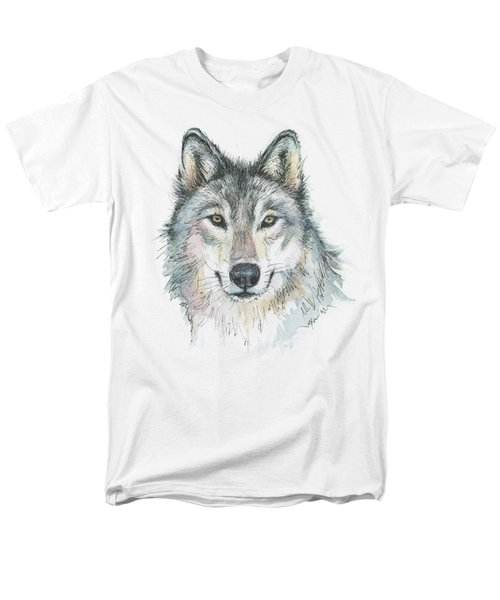 Wolf Men's T-Shirt  (Regular Fit) by Olga Shvartsur