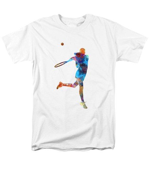 Woman Tennis Player 03 In Watercolor Men's T-Shirt  (Regular Fit) by Pablo Romero