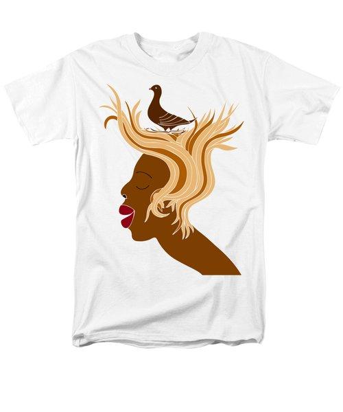 Woman With Bird Men's T-Shirt  (Regular Fit) by Frank Tschakert
