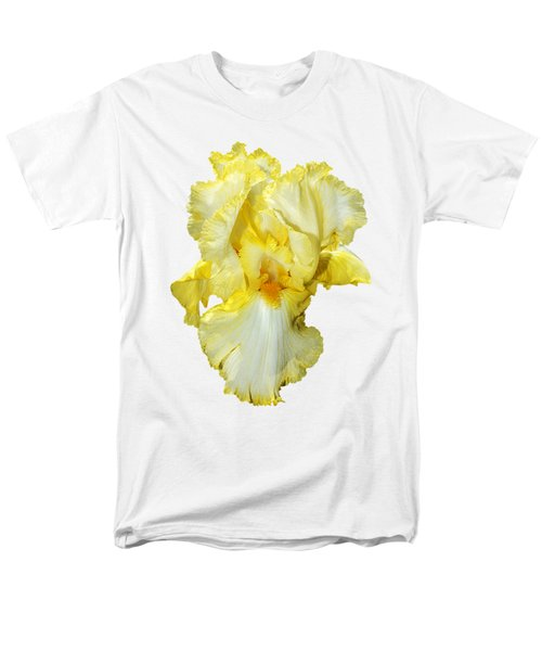 Yellow Mist Iris Men's T-Shirt  (Regular Fit) by Phyllis Denton