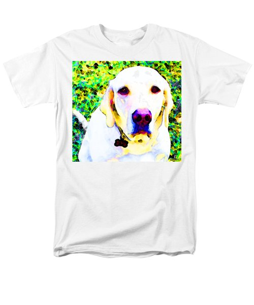 You Are My World - Yellow Lab Art T-Shirt by Sharon Cummings