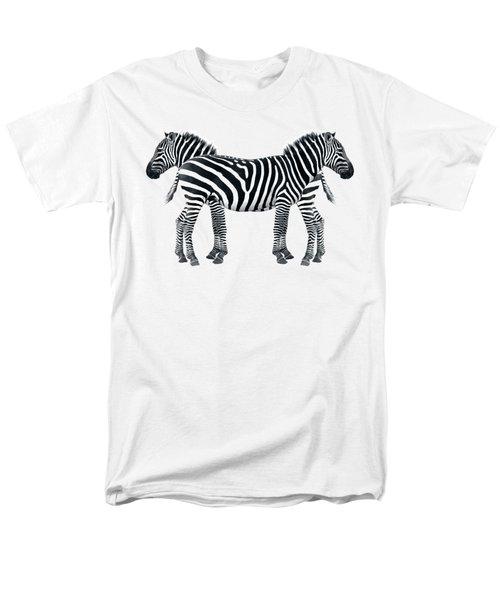Zebra Pair On Black Men's T-Shirt  (Regular Fit) by Gill Billington