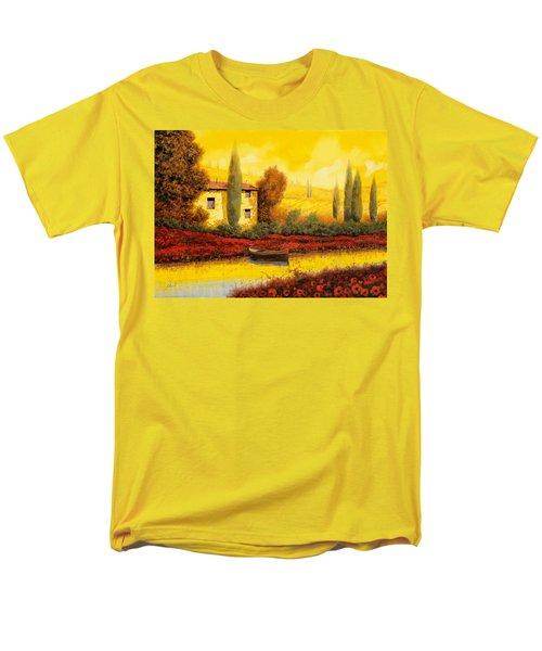 al tramonto sul fiume T-Shirt by Guido Borelli