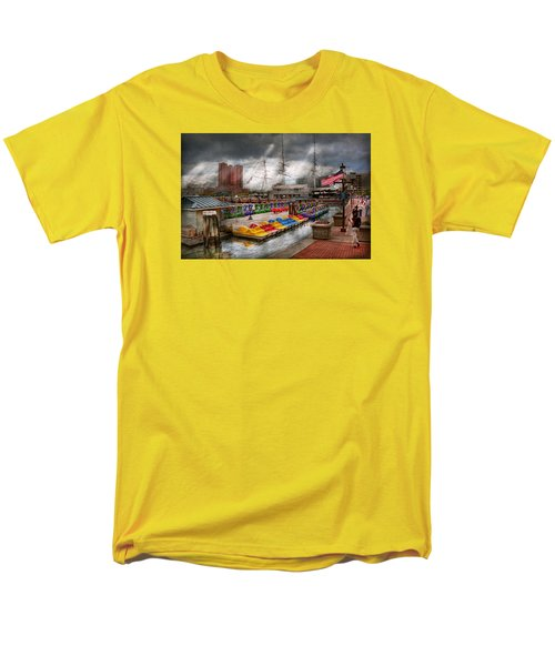 City - Baltimore MD - Modern Maryland T-Shirt by Mike Savad