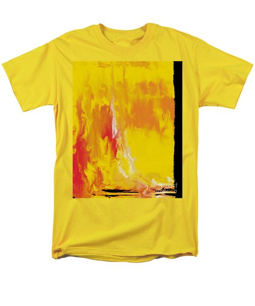 Lemon Yellow Sun Men's T-Shirt  (Regular Fit) by Roz Abellera Art