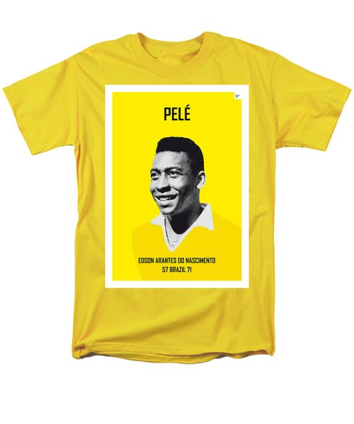 My Pele Soccer Legend Poster Men's T-Shirt  (Regular Fit) by Chungkong Art