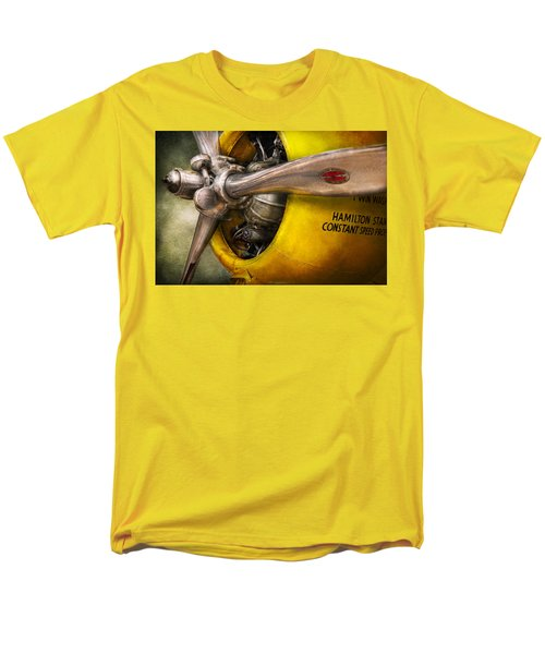 Plane - Pilot - Prop - Twin Wasp T-Shirt by Mike Savad