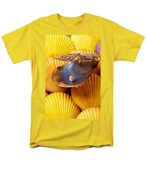 Pearl in oyster shell T-Shirt by Garry Gay