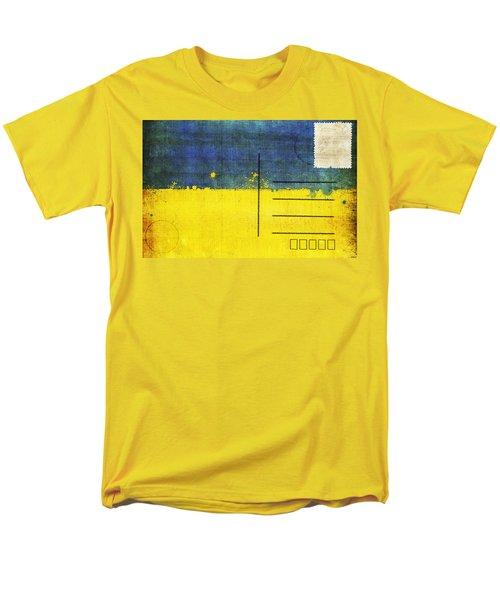 Ukraine flag postcard T-Shirt by Setsiri Silapasuwanchai