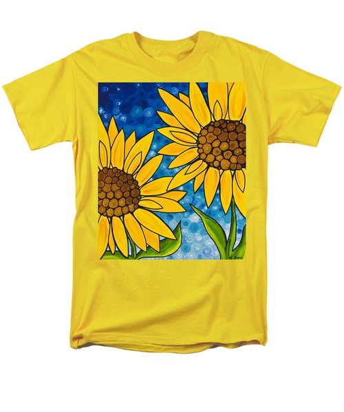 Yellow Sunflowers T-Shirt by Sharon Cummings