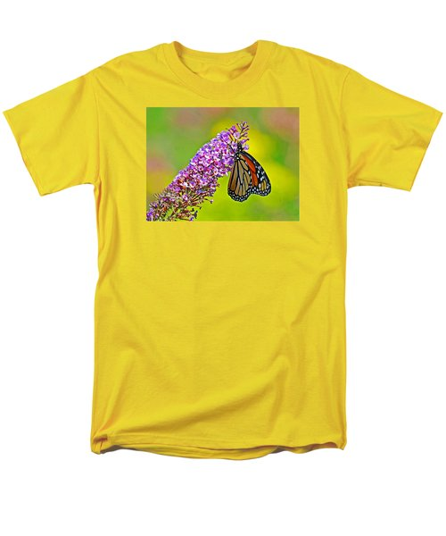 Men's T-Shirt  (Regular Fit) featuring the photograph Monarch Butterfly by Rodney Campbell