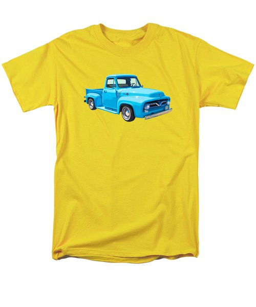 1955 Ford F100 Blue Pickup Truck Canvas Men's T-Shirt  (Regular Fit) by Keith Webber Jr